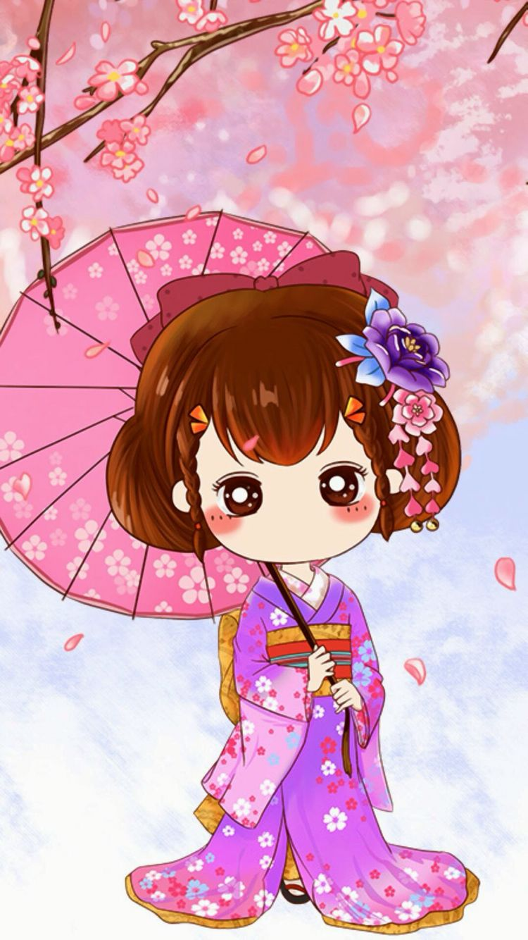 Pin By Thao Tran On Girlies Cute Girl Wallpaper Chibi Wallpaper Cute Drawings