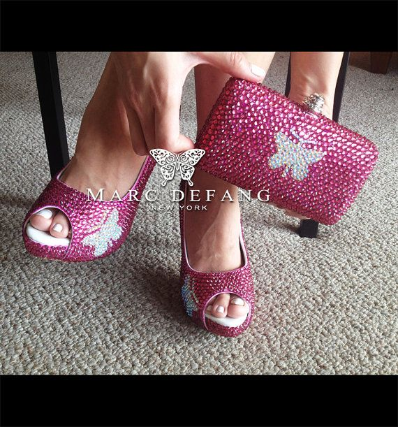 Signature Rose butterfly shoes and clutch bag LUXURY SET by MDNY, $269.00