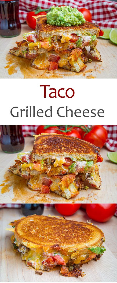 Taco Grilled Cheese Sandwich Recipe Recipes Food Grilled Cheese Recipes