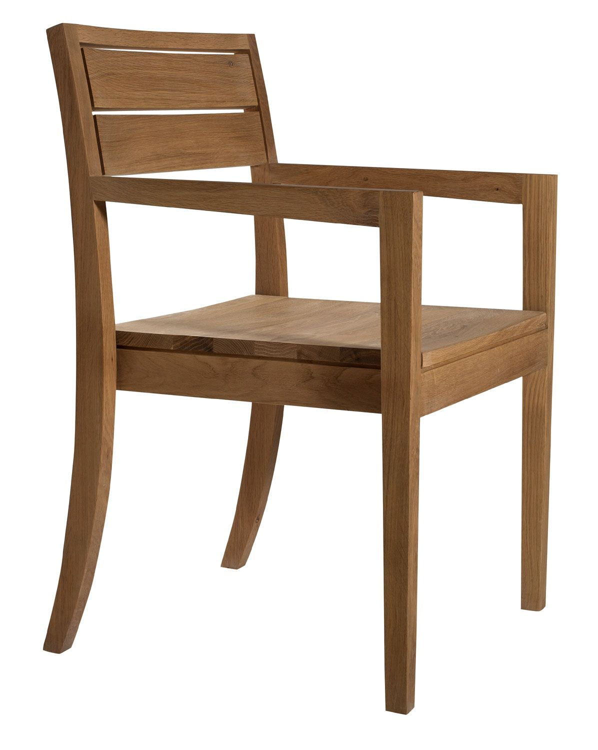 Ethnicraft Ls 2 Oak Chair With Armrest | Solid Wood Furniture