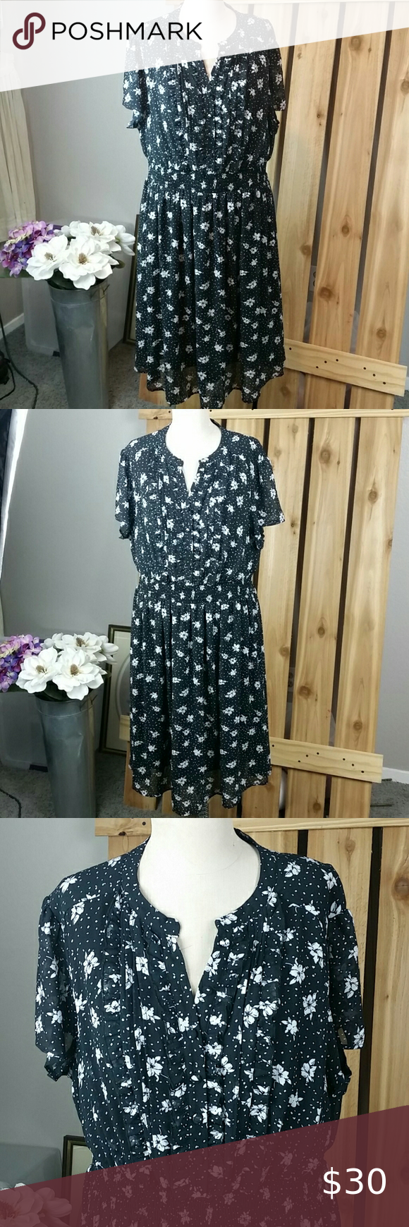 Torrid Floral Print Black Dress Black Print Dress Torrid Dresses Black Dress [ 1740 x 580 Pixel ]