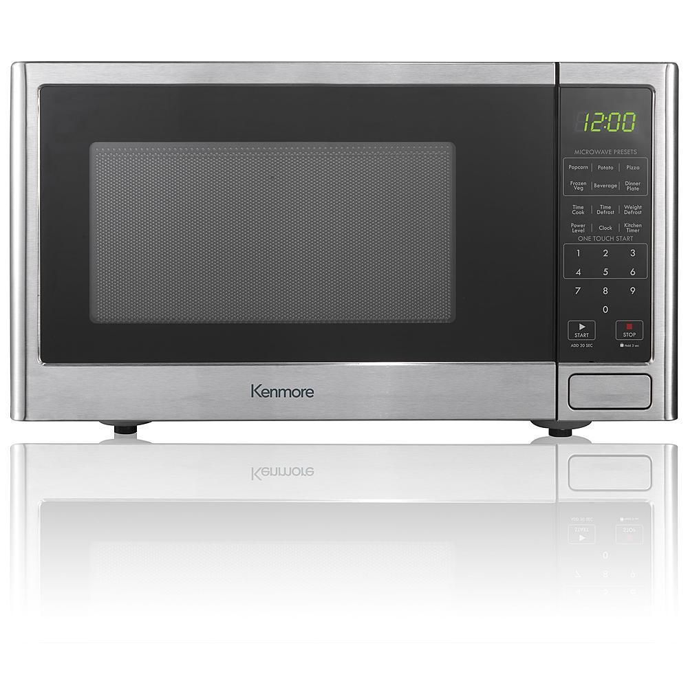 Kenmore 0 9 Cu Ft Stainless Steel Countertop Microwave Oven Warm