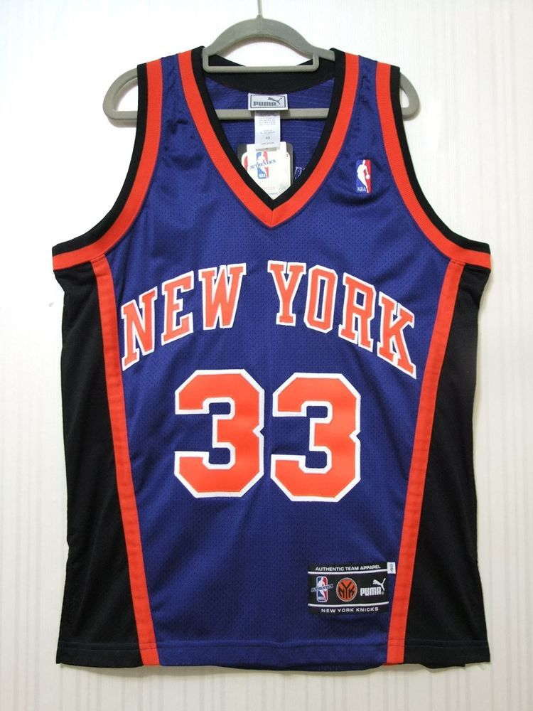 fc030033a Patrick Ewing 2000 New York Knicks Puma Authentic Away Jersey Size 40 NWT  NBA (eBay Link)