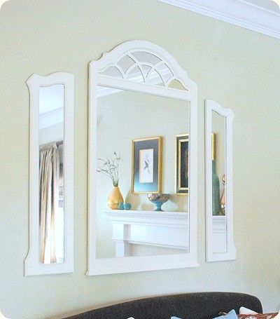 Repurpose Vanity Mirrors To The Wall Dresser With Mirror