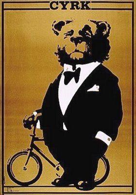 Mounted /& Framed Vintage Print Cyrk Circus Polish Poster