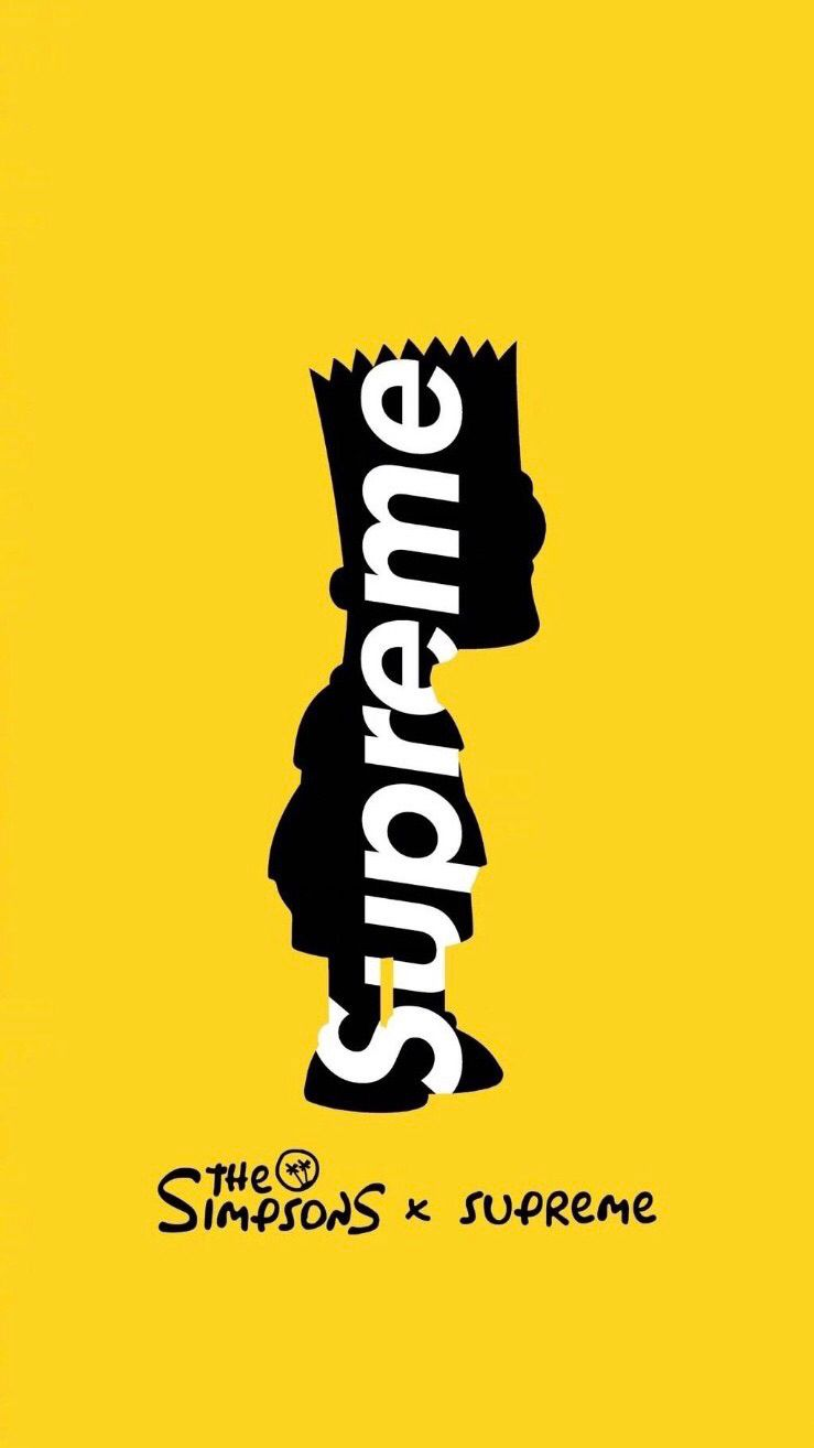 The Simpsons And Supreme Supreme Iphone Wallpaper Supreme Wallpaper Supreme Wallpaper Hd