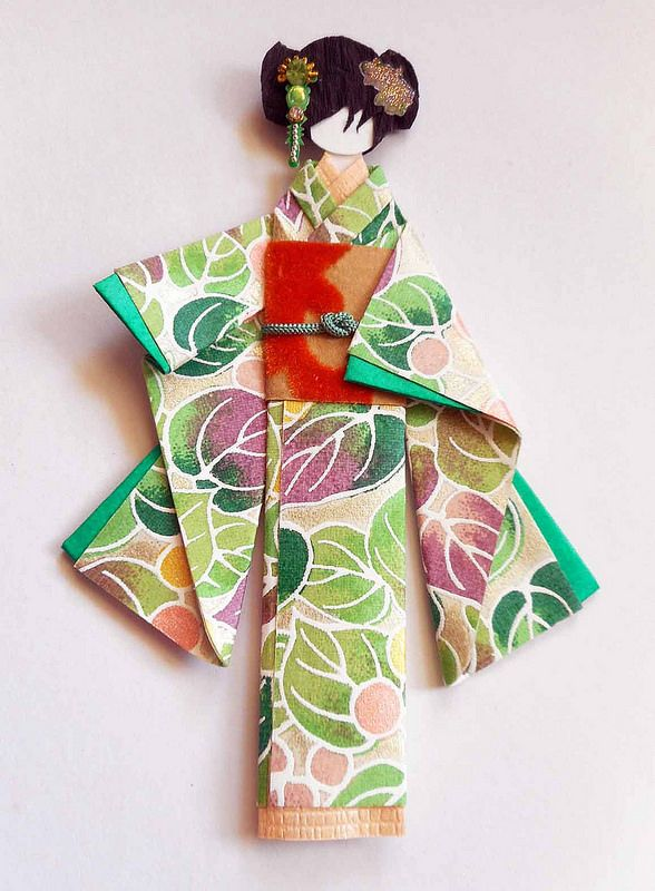 Japanese Origami Doll 1 Japanese Origami Paper Dolls