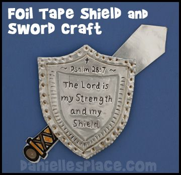 Shield And Sword Foil Tape Bible Craft For Sunday School