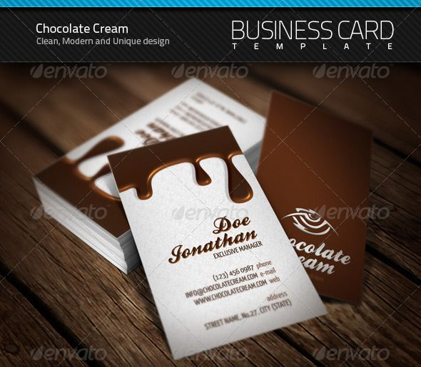 Chocolate business card business cards font logo and fonts buy chocolate business card by artnook on graphicriver reheart Images
