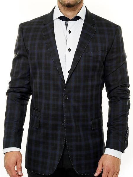 Perfect Fit Guarantee. Mens Blazer w/ luxe fabric by MACEOO. Free Shipping