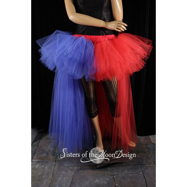5afe99897e Harley Quinn Squad tutu skirt hi low Wedding Formal bustle back red... (170  NZD) ❤ liked on Polyvore featuring costumes, plus size cosplay costumes, ...