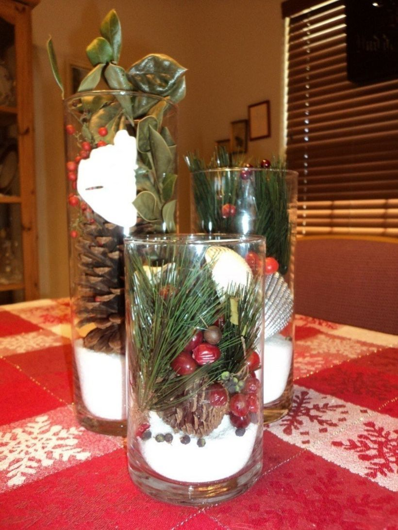 37 homemade christmas table decorations centerpieces ideas - Homemade Christmas Table Decorations