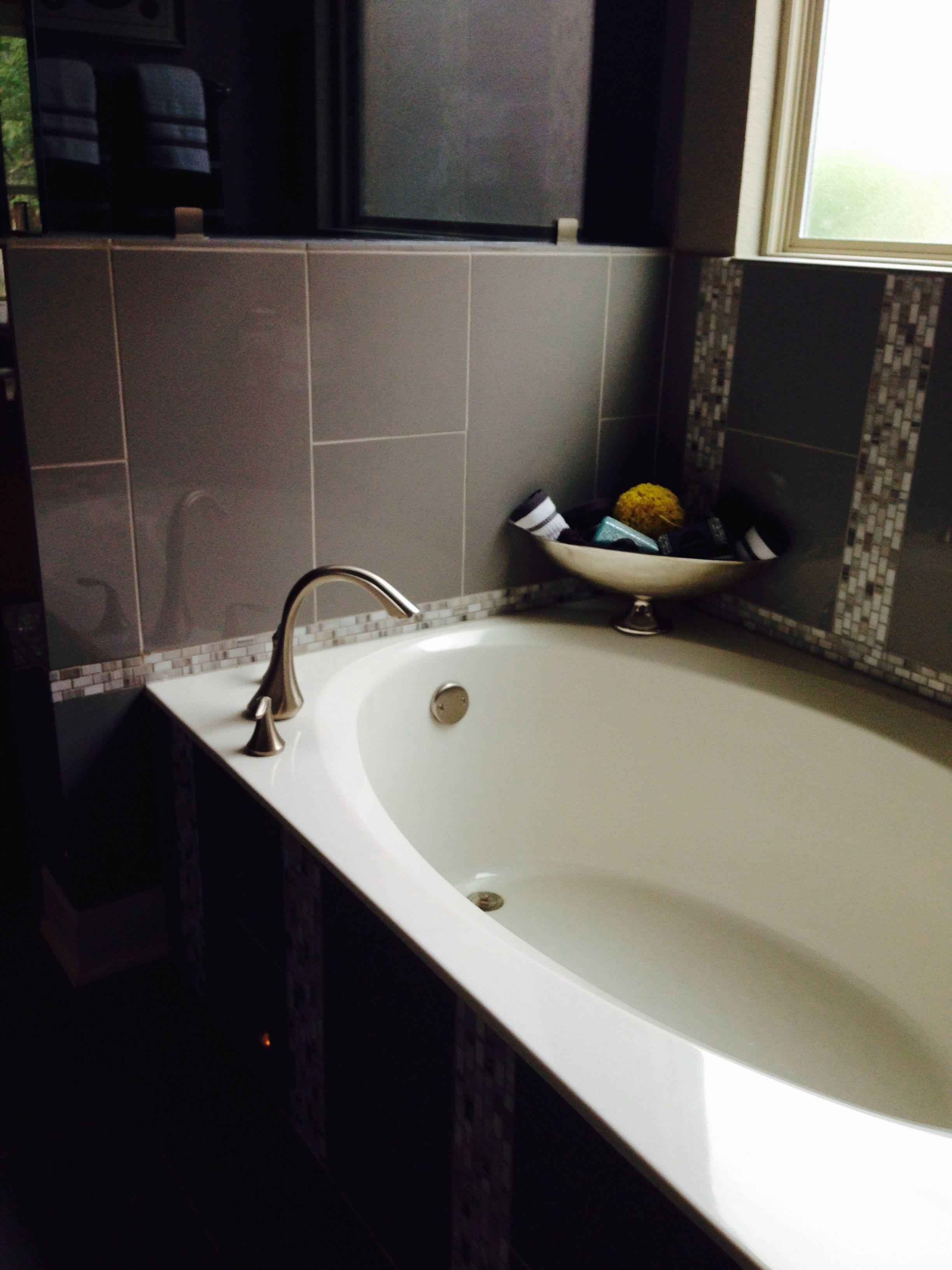 12x24 high gloss porcelain tile tub surround | deco options ...