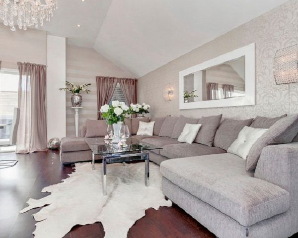 Exceptional Beautiful Metallic Silver Living Room Wallpaper Amazing Pictures