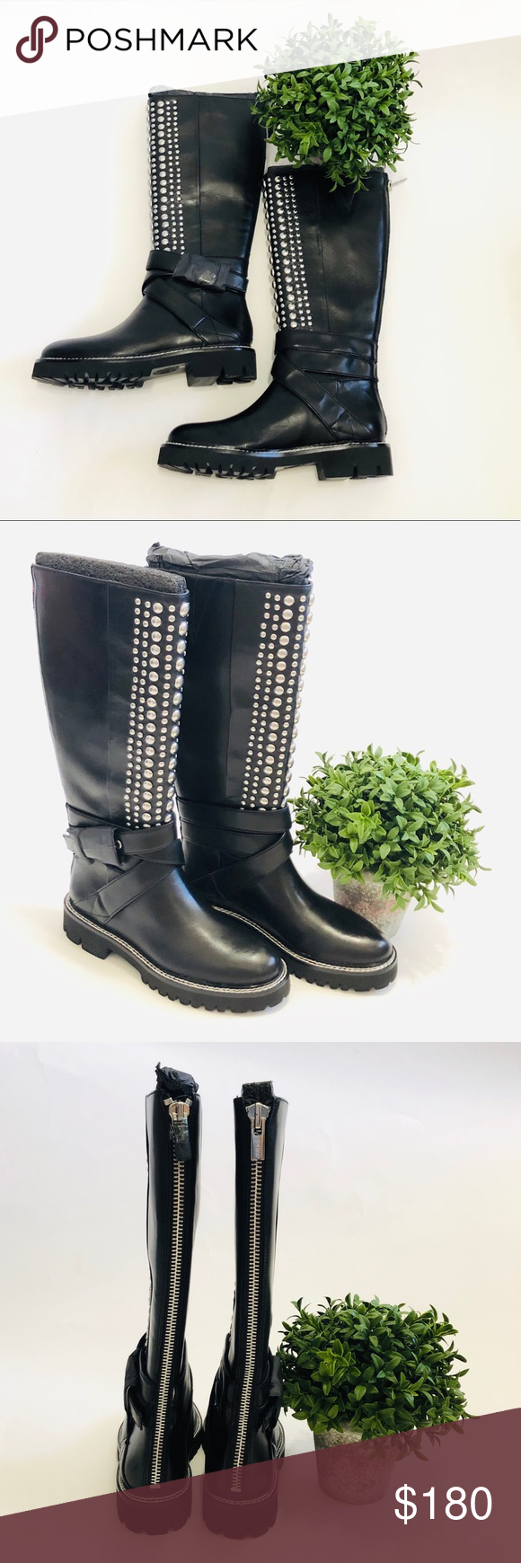 DKNY Babz Knee High Boots - Black Size
