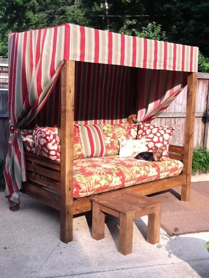 Outdoor daybed Ana White Woodworking Projects Porch Swings in