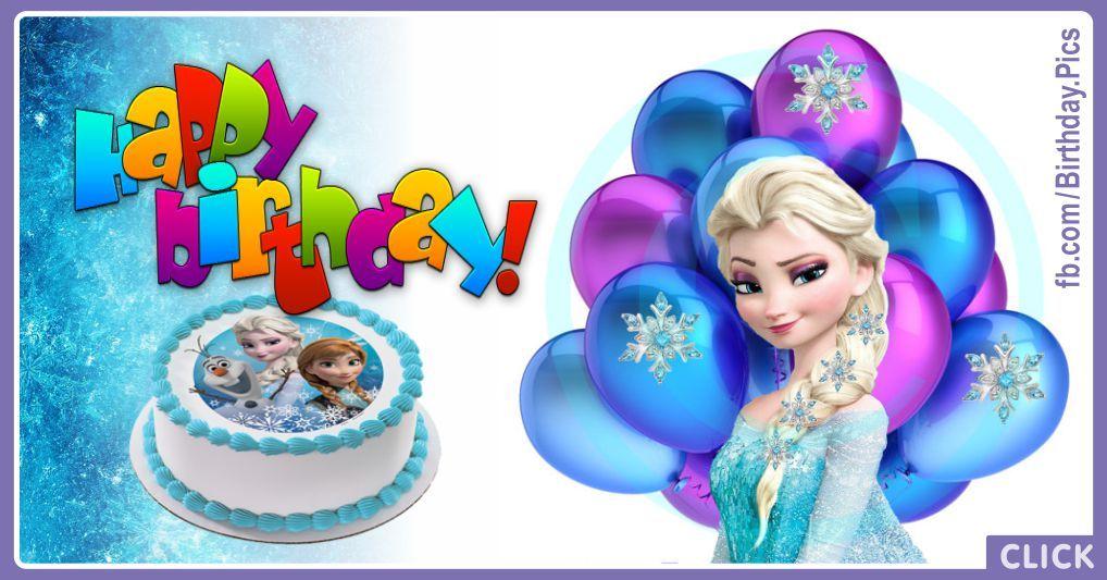 blue frozen cake  happy birthday card  happy birthday