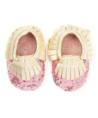 Loving this Pink Sequin Moccasin on #zulily! #zulilyfinds