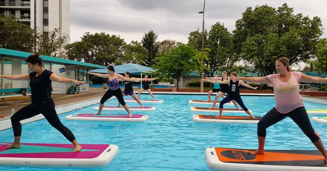 107 Likes 7 Comments Joga Yoga Let S Get Bendy Jogayogacanberra On Instagram The Thing About Float Yoga Is Tha Yoga Class Yoga Practice Getting Wet