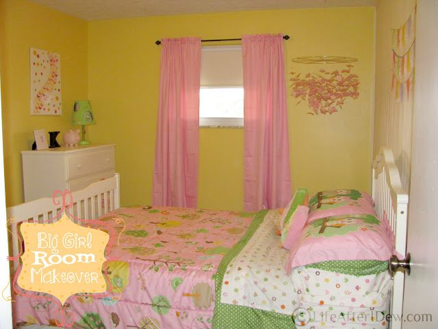 Big girl/toddler room. Target Love N Nature bedding Girl