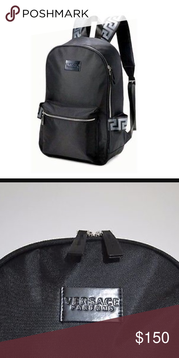 9c37fc77b90d Versace Parfums Backpack Brand New 100% Genuine Versace Backpack Rucksack  Gym Weekend Travel Bag.