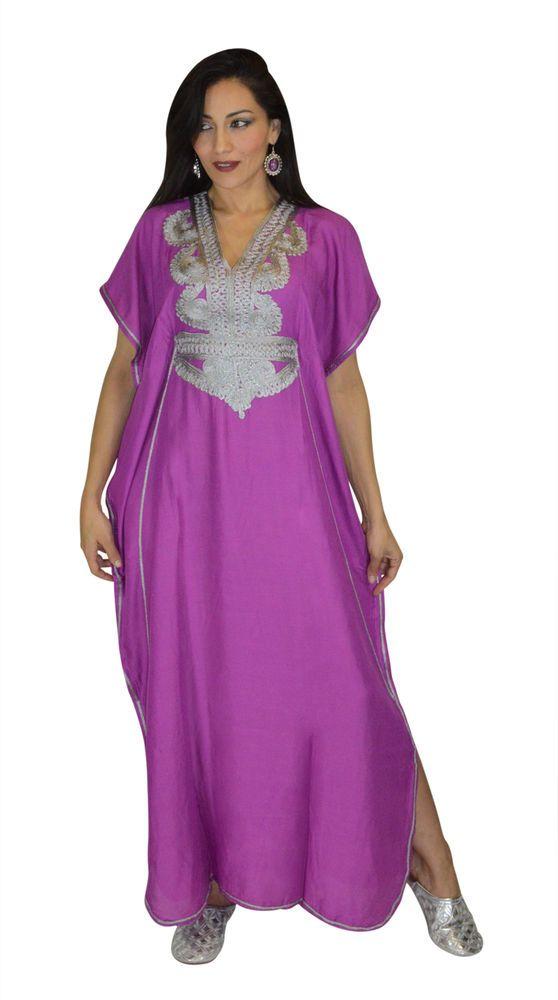 Moroccan Caftan Women kaftan Arabian Beach Dress Fancy Abaya Middle ...