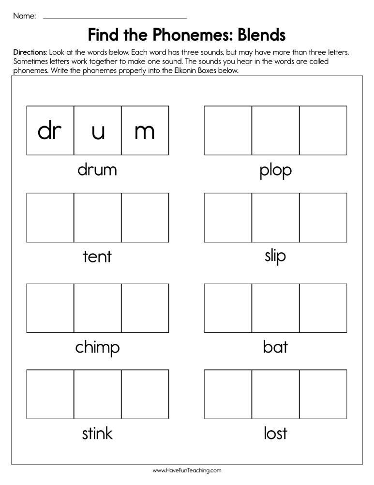 Pin By S Owens On Lynn S Learning Blends Worksheets Kindergarten Worksheets Printable Kindergarten Phonics Worksheets