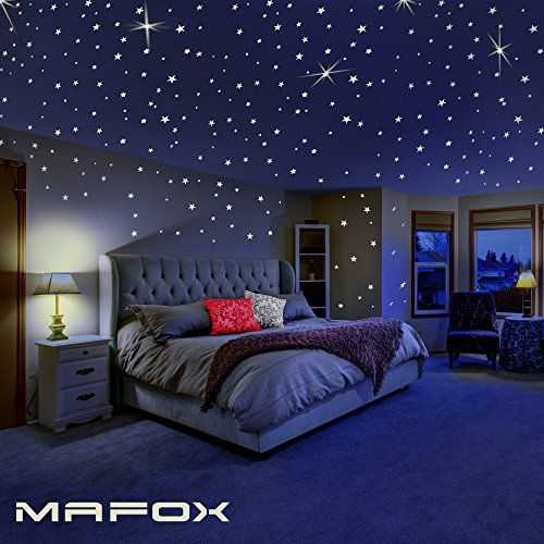 Glow in the dark stars for ceiling or wall stickers glowing decals room decor kit galaxy star set and solar system decal kids also rh pinterest