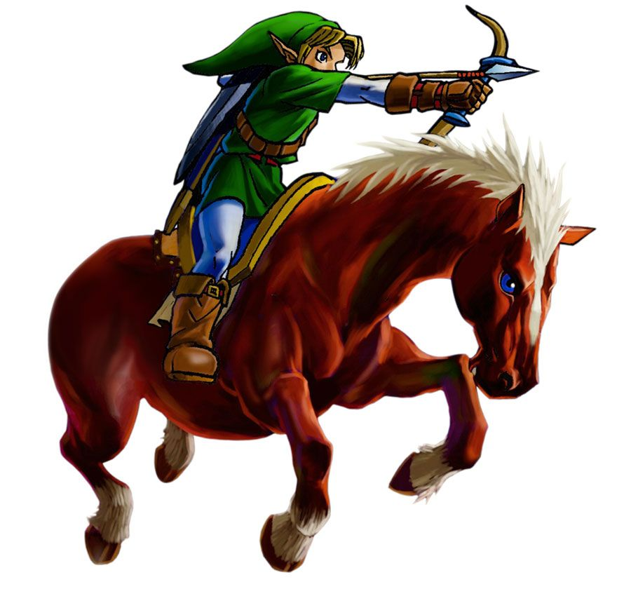 Link & Epona | The Legend of Zelda: Ocarina of Time 3D ...