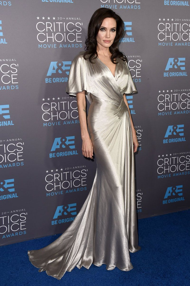 a2fde9065dbd -Angelina Jolie in a metallic silver silk gown by Atelier Versace at the  20th Annual Critics  Choice Movie Awards (January 15