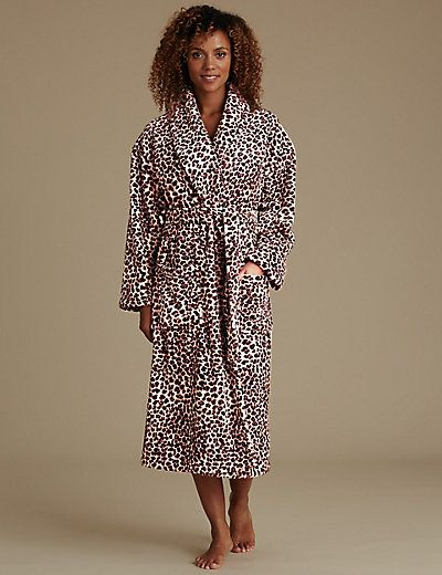 Leopard Print Shimmer Dressing Gown with Belt | M&S | Christmas 2016 ...