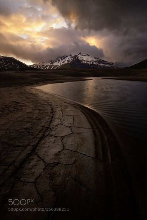 The amazing Mont-Cenis by Marcobarone 500px lake sunset mountains water clouds cloudy beautiful french mud amazing montagne alpine moncen