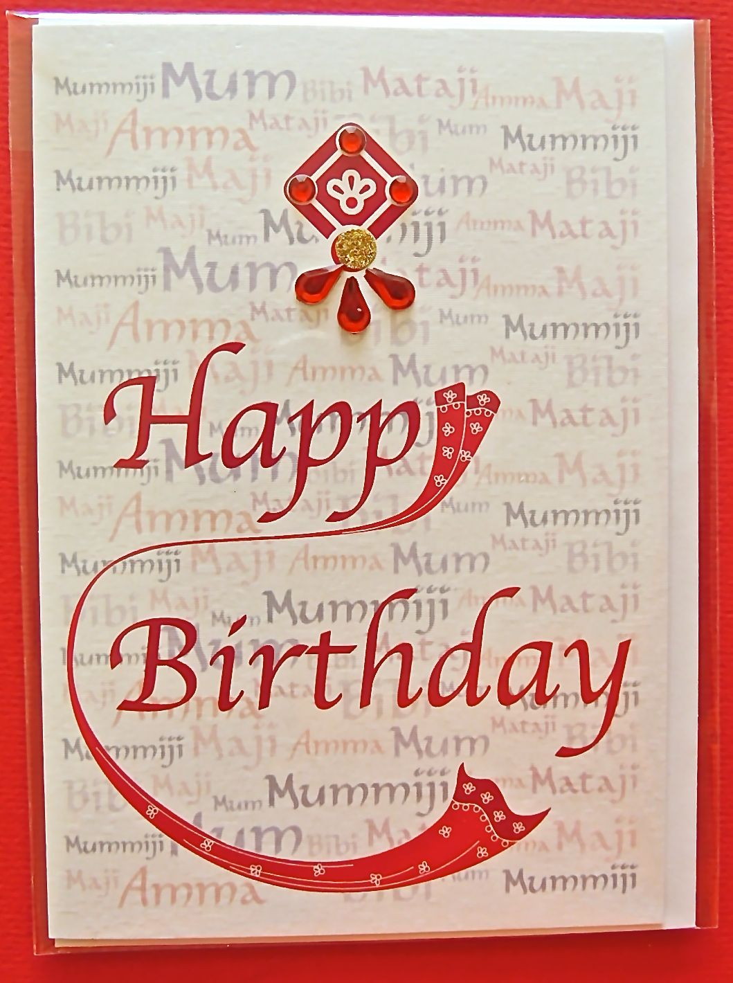 Birthday card for your Mum with watermark background with names – Indian Birthday Cards
