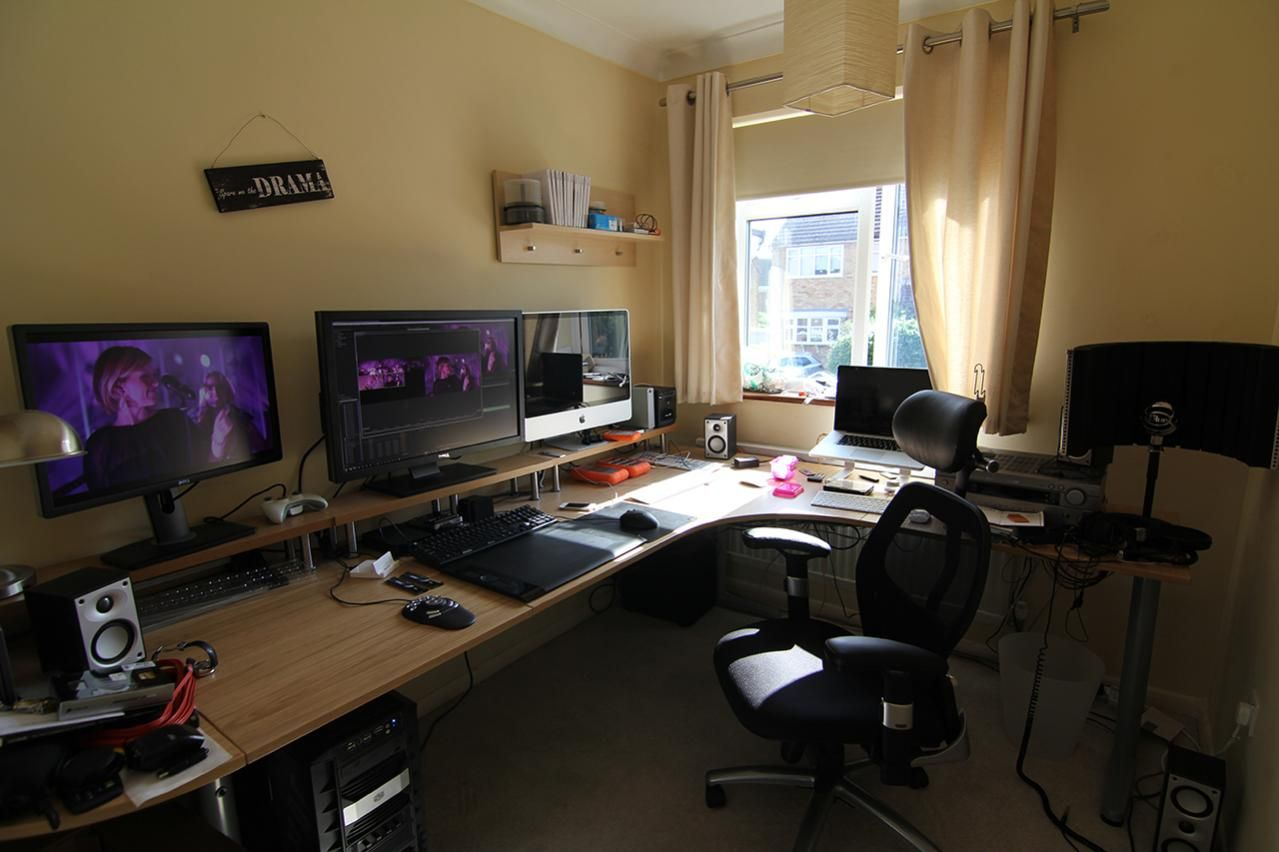 office workspace home gaming desk setup ideas ultimate