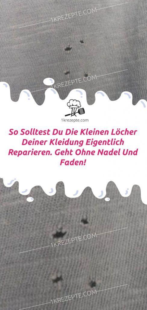 So solltest du die kleinen Löcher deiner Kleidung eigentlich reparieren. Geht ohne Nadel und Faden! #debutideas