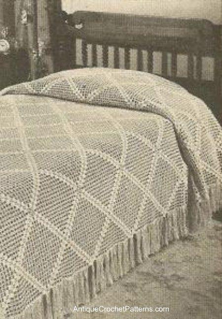 Knitted Bedspread Patterns : Diagonal Bedspread - Free Crochet Pattern for a Bedspread Crochet Bedspread...
