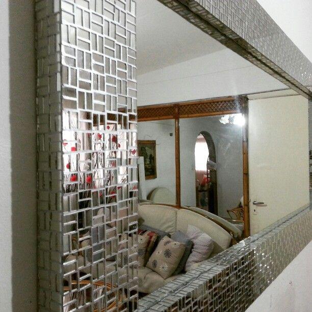 Marco revestido de espejos. Medidas 1.80x80.