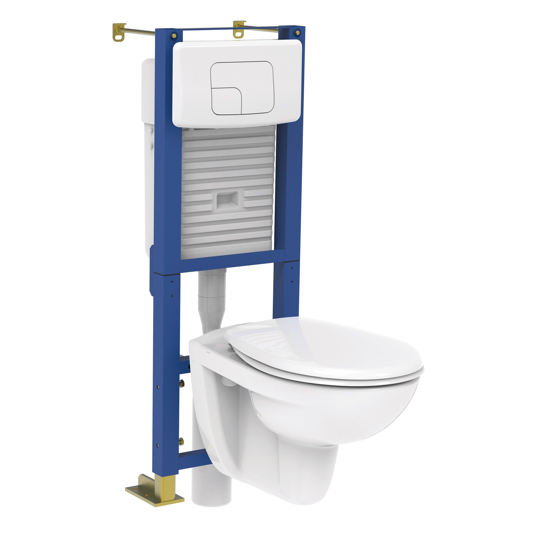 Wc Suspendu 4 Pieds pack wc suspendu bâti universel, sensea essential | wc