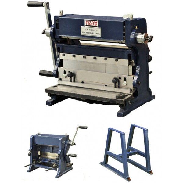 12 Combination 3 In 1 Sheet Metal Machine Shear Brake Press Sheet Metal Metal Fabrication Metal Shop