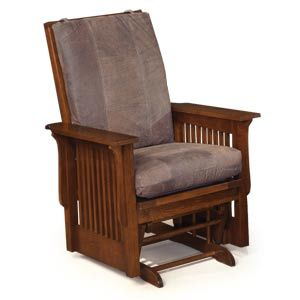 This Mission Style Glider Rocker Is One Of Our Most Popular