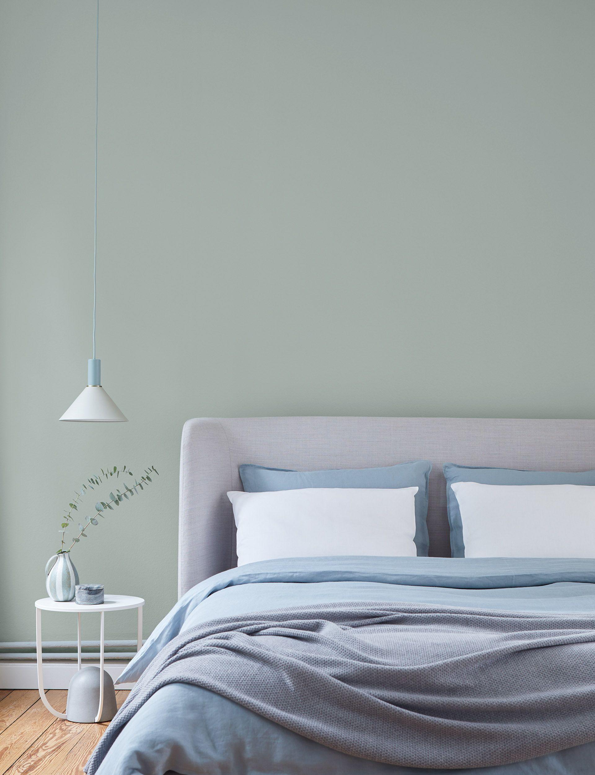 Modern Einrichten: Alpina Feine Farben – Sanfter Morgentau| Grau-grüne Salbei Wandfarbe #alpinafeinefarben