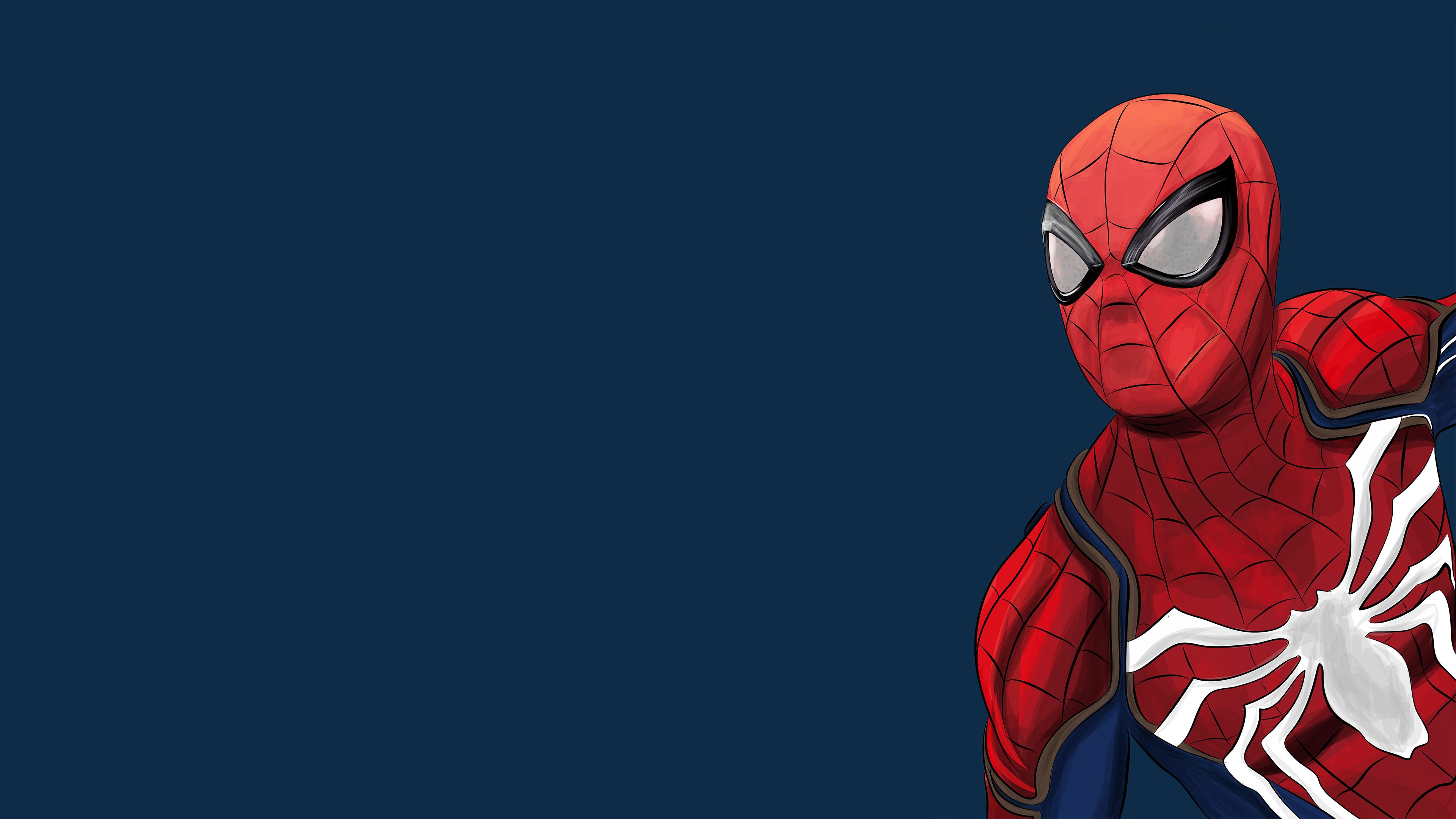 Spiderman Ps4 Artwork 4k 2018 superheroes wallpapers