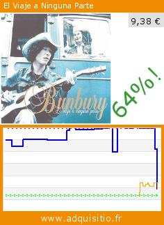 El Viaje a Ninguna Parte (CD). Réduction de 64%! Prix actuel 9,38 €, l'ancien prix était de 25,90 €. http://www.adquisitio.fr/emi-music-spain-slu/el-viaje-a-ninguna-parte
