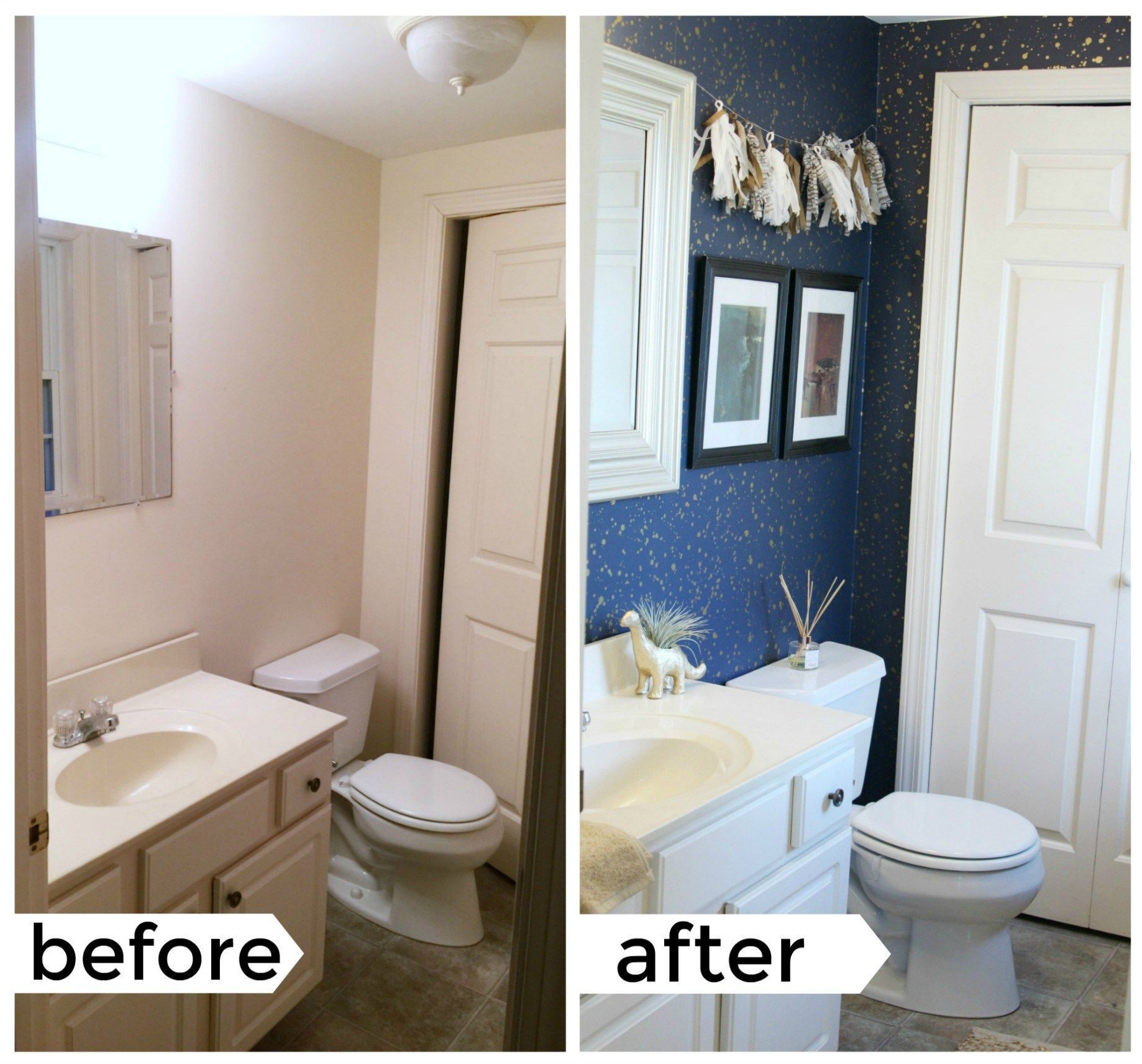 When Decorating A Rental Bathroom You Have A Lot Of Things To Battle With Use These Simple Rental D Rental Bathroom Makeover Rental Home Decor Rental Bathroom
