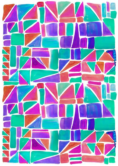 watercolour shapes print. if you don't follow this chick (I am guessing you don't) you should. I think you would like her prints.