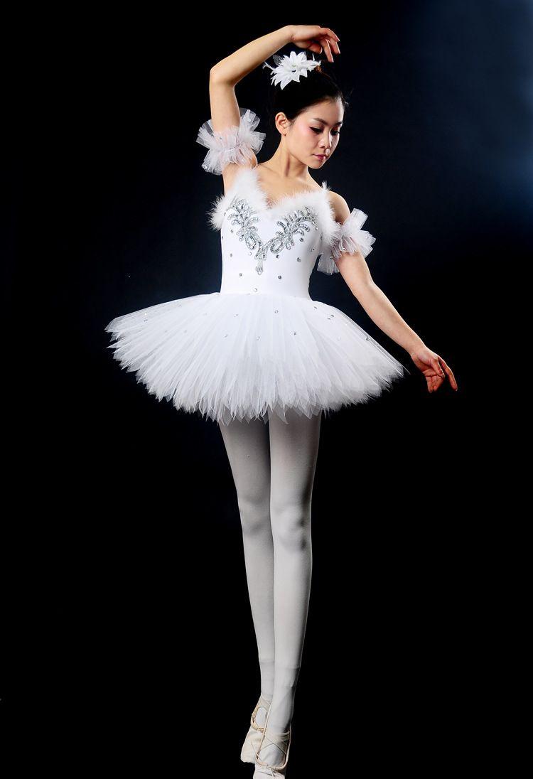 e564739f22 Diamante adulto Swan Lake Ballet traje Ballet Tutu Leotard Dancewear  meninas palco Ballet Danse dança roupas em Balé de Novidade e de uso  especial no ...