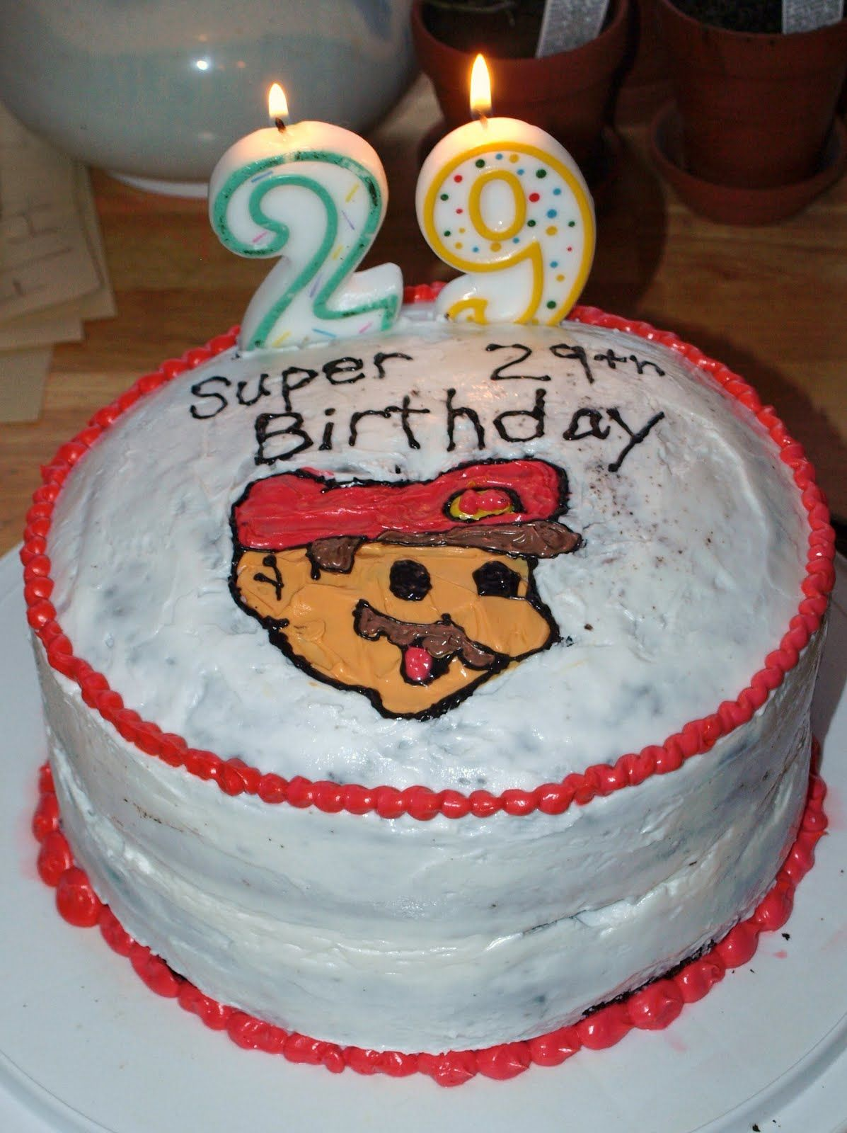 Super Mario Birthday Cake For 29th Birthday Birthday Cake Designs