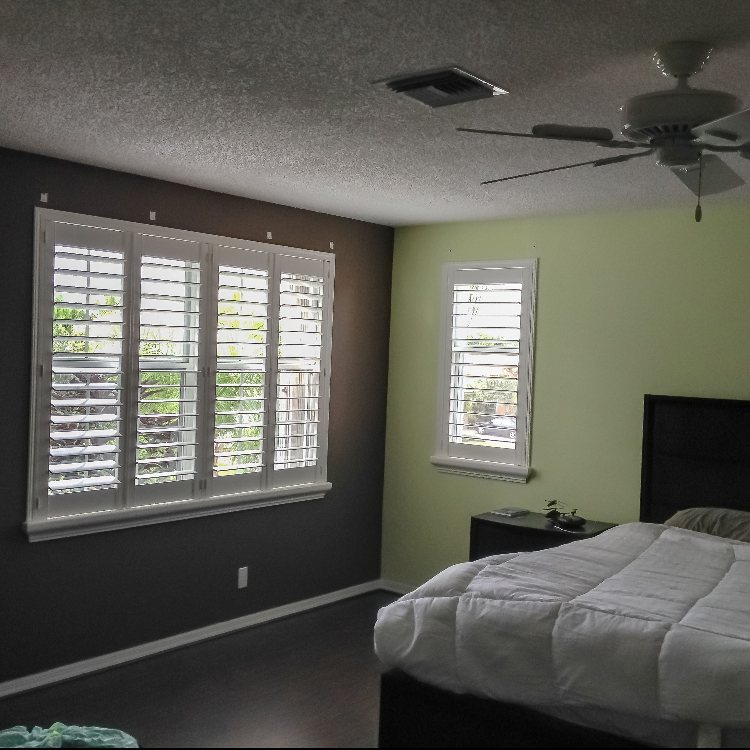 Plantation Shutters are up in this residence.  #blindsshadesandshutters #myblindstoday #windowtreatment #miami #homedecor #homedecormiami #interiordesign #condoliving #luxury #luxuryliving  #miamiliving #home #light #miamicondos #miamibest
