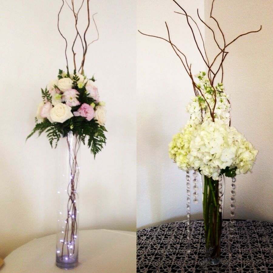 Tall wedding centerpieces perfect for wedding or a quinceanera ...