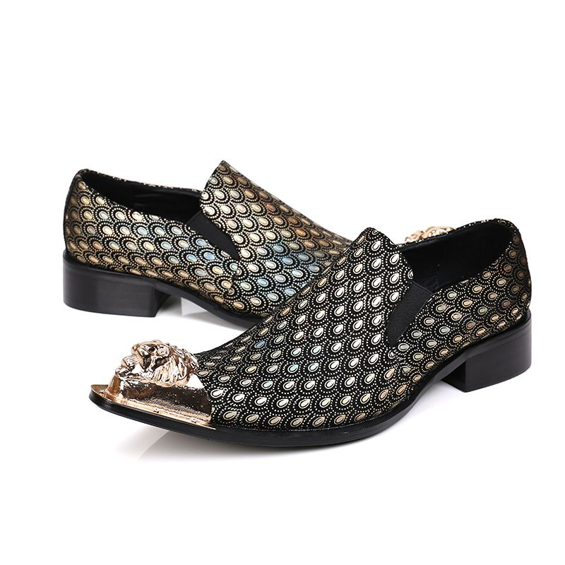 Find This Pin And More On Mens Shoes 2 New Brand Designer Genuine Leather Oxford Gold Wedding